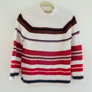 LOFT Striped Oversized Sweater Petites XXS G27
